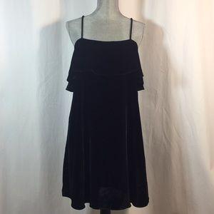 NWOT Madewell Velvet Ruffle Mini Dress